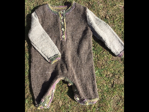 12 month old Handknitted romper
