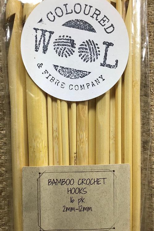 Bamboo crochet hook set 16 pieces