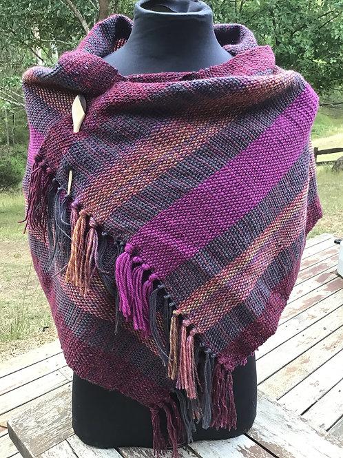 Purple pop handwoven shoulder wrap