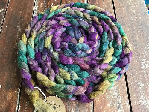 Punch of colour collection steam dyed carded sliver 120 g