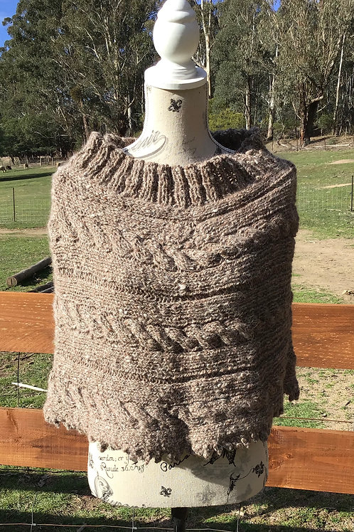 Corriedale/ Alpaca shoulder hug regular size