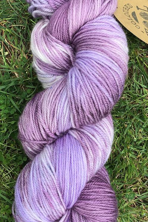 Lilac hues Merino sock yarn4 ply 100 g