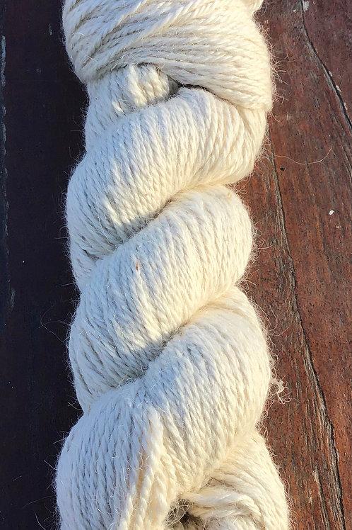 Naturally coloured Ivory Suri yarn 8 ply 100 g
