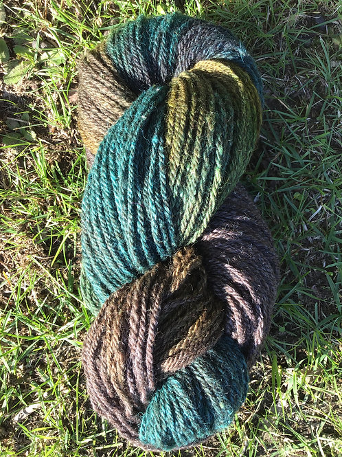 Aussie Bush steam dyed over coloured wool blend