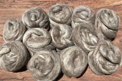 Naturally Coloured Corriedale/ Merino Suri Alpaca blend 600 grams