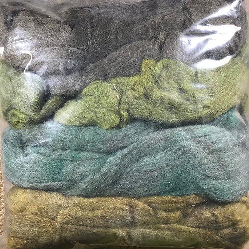 Green cascading colour bag 200g