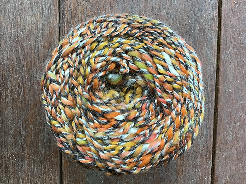 Carnival Handspun wool and silk yarn 100g