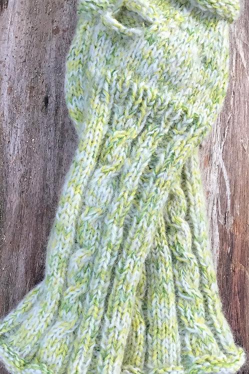 Handspun/knitted hand arm warmers