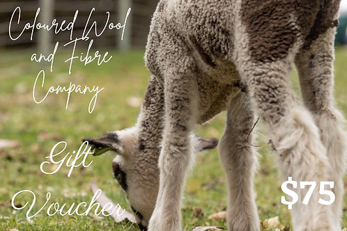 $75 Gift VoucheR Coloured Wool and Fibre co.