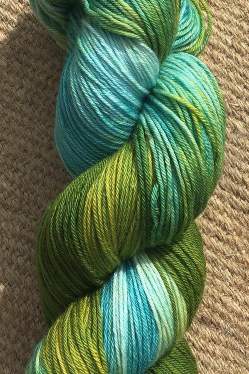 Kermits green  sock yarn 100 g