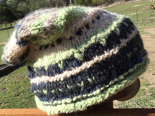 Handknitted rustic slouch hat