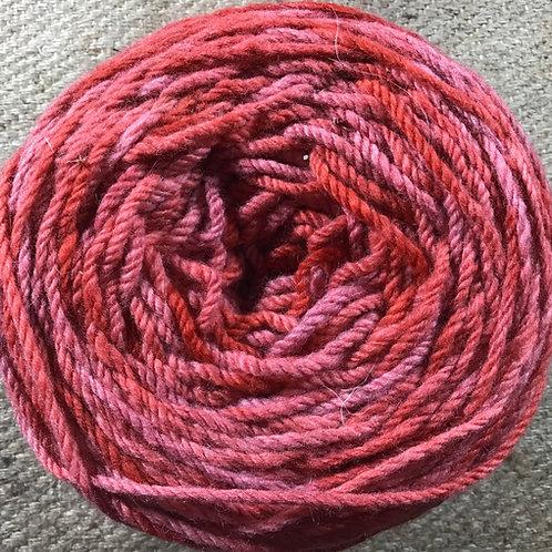 Pink Lady 8 ply Polwarth yarn 200 g