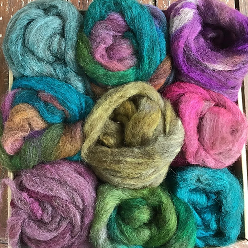 Steam dyed spinners felters pack sampler 180g #3