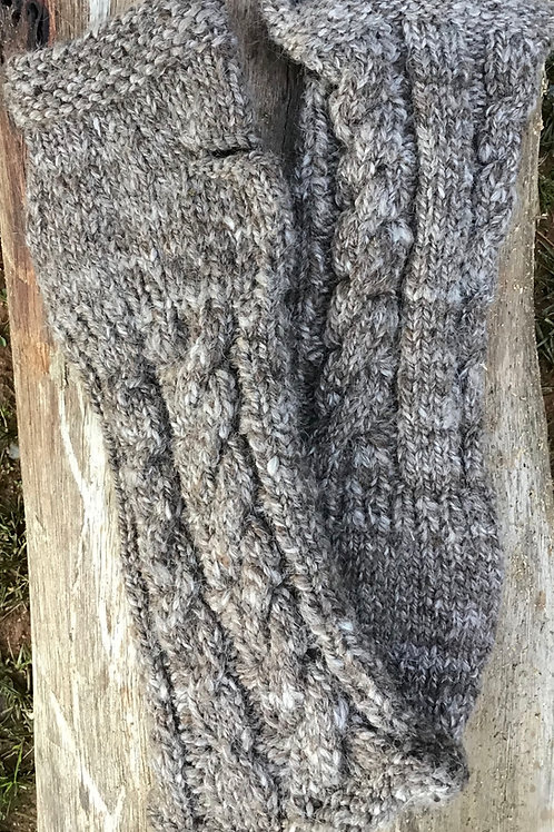 Handspun and Handknitted hand / arm warmers
