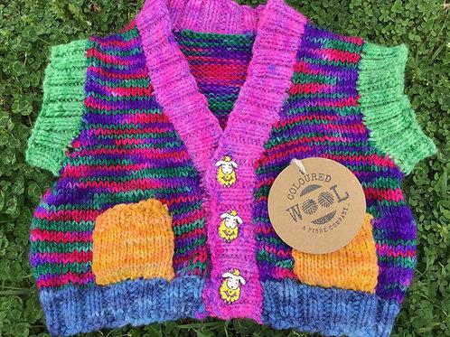 Large rainbow vest