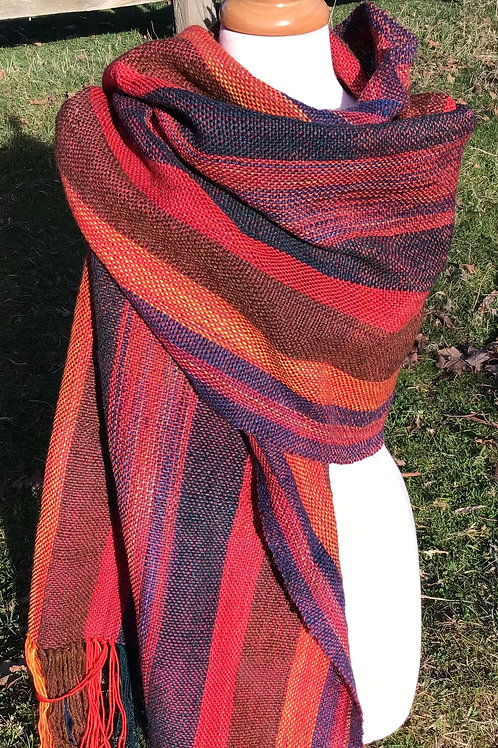 Ruby mid handwoven , handdyed wrap
