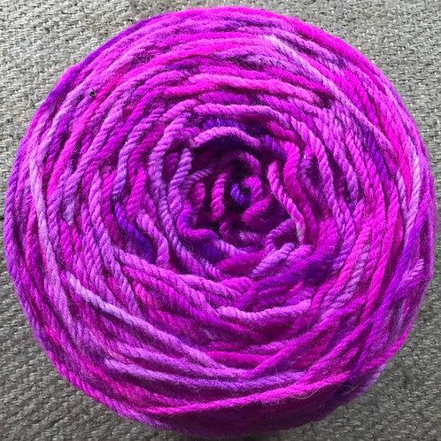 Pink pop 8 ply Polwarth yarn 200g