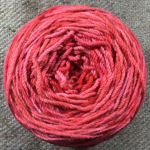 Rose 8 ply Polwarth yarn 200 g