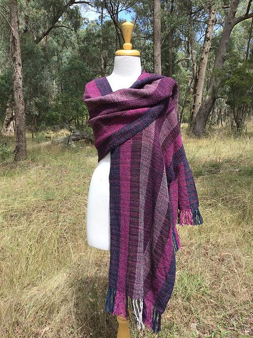 Purple pop mid length wrap