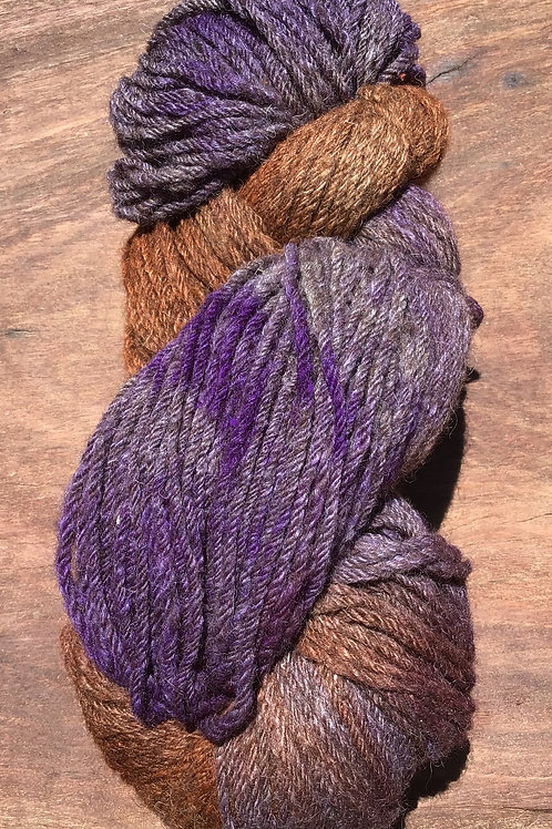 Steam dyed Splash of Purple Collection 10 ply 100 grams