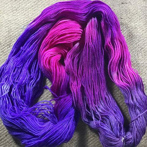 Purple pop sock yarn 4 ply