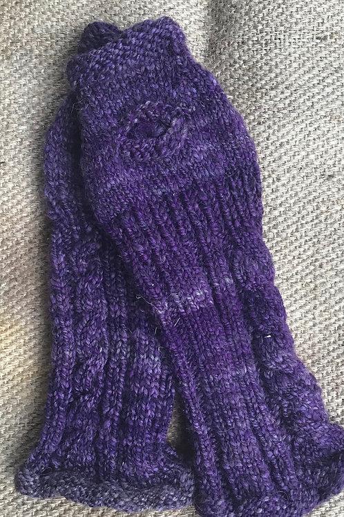 Purple hand / arm warmers