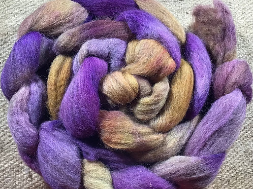 #252 steam dyed on our Merino/ Corriedale blend 200 g