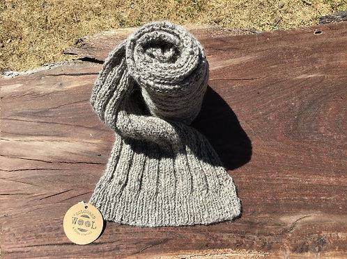 Naturally coloured Merino Suri alpaca scarf