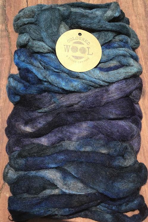 Cascading colour bag- blue & purple
