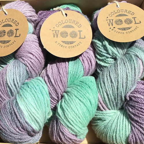 Peppermint/pastel Polwarth gift pack
