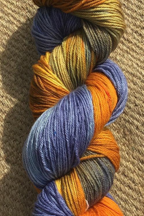 Bird of paradise merino blend sock yarn 100 g 4 ply
