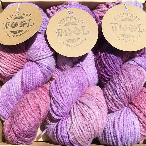 Pretty in pink Polwarth gift pack