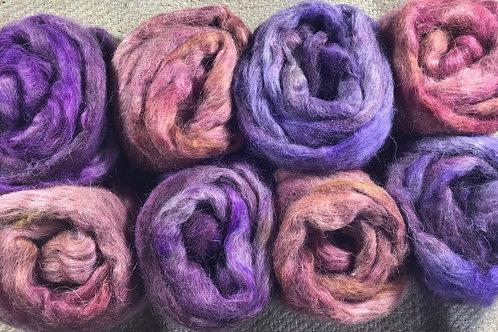 #1 Pinks English Leicester/ Suri alpaca blend 400 g