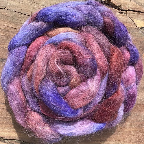Shades of purple roving collection 100 grams