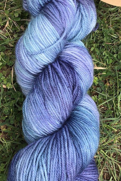 Blue bottle Merino blend sock yarn 4 ply 100 g