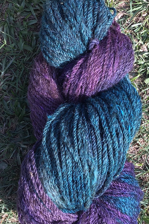 Arabian nights steam dyed over coloured wool blend
