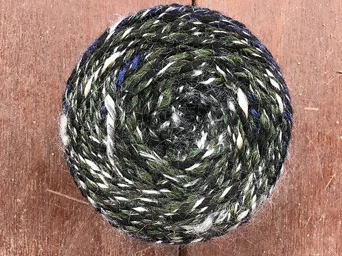 Shady forest wool and silk handspun yarn 100 g