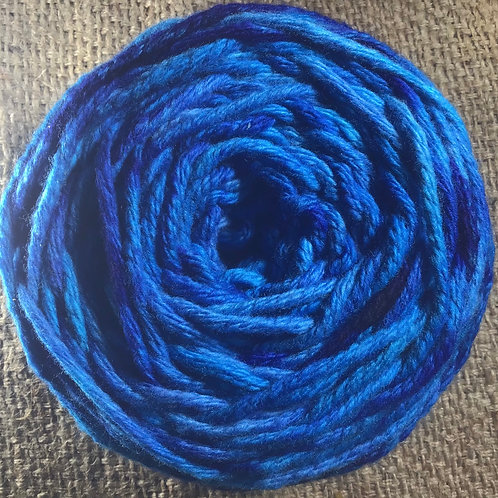 Blue bottle 20 ply Polwarth yarn 200 g