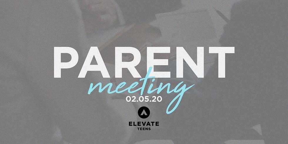Elevate Teens Parent Meeting