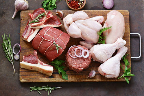 Poultry, Pork & Beef