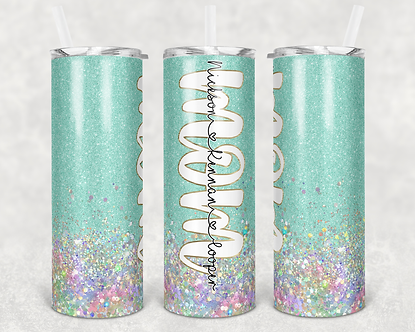 Mint Mom Tumbler Add Your Own Names