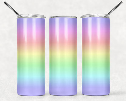 Pastel Rainbow Tumbler