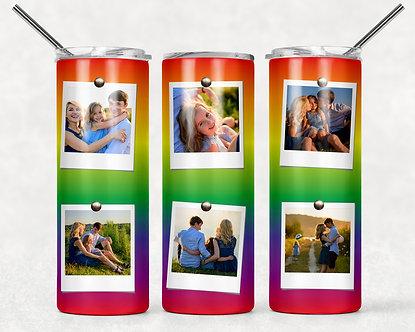 Rainbow Photo Tumbler