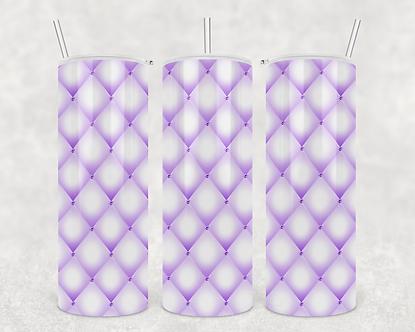 Purple Tufted Rhinestone