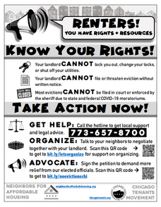 CDC Eviction Moratorium and Chicago Tenants Movement Hotline Goes Live