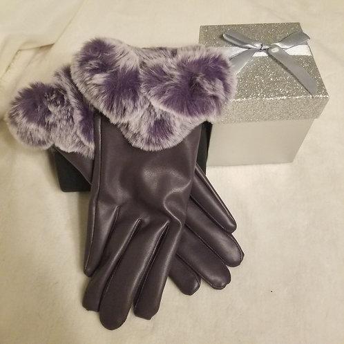 Faux Fur Winter Gloves