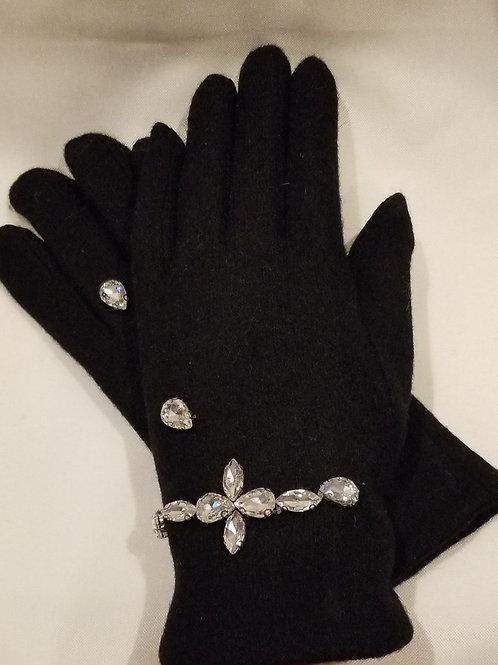 Rhinestone Winter Gloves