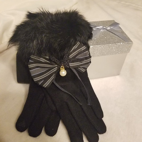 Bow-knot Cashmere Gloves
