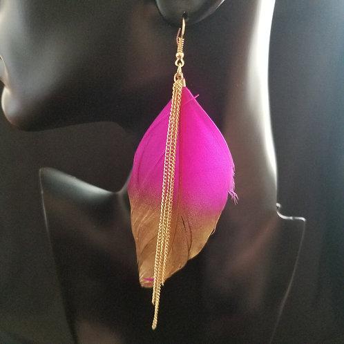 Tassel Feather Earrings