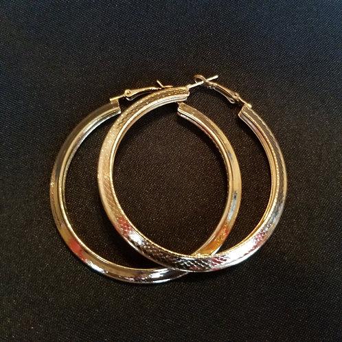 Snake Pattern Hoop Earrings